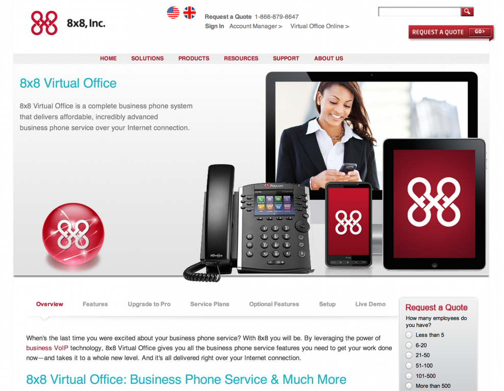 8x8 VoIP Business Phone Service
