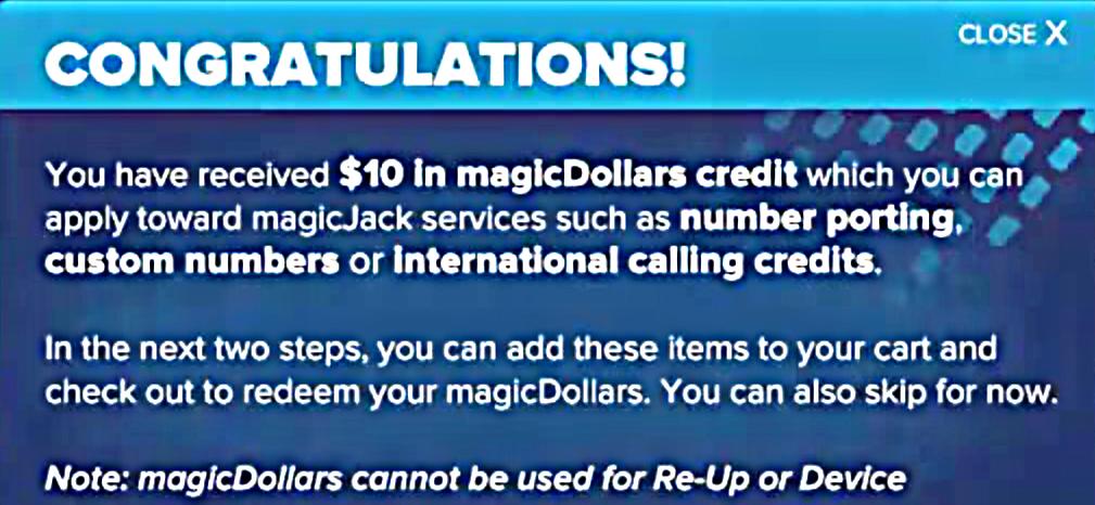 magicJack Dollars