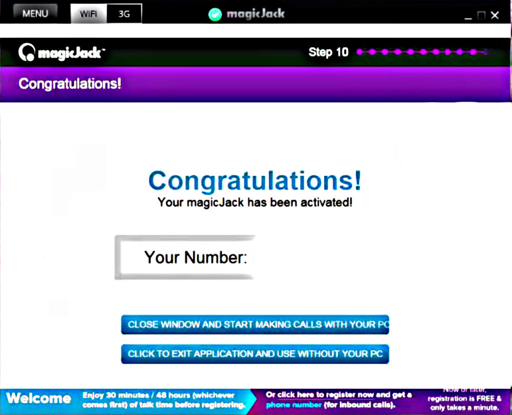 magicJack Order Completed Page