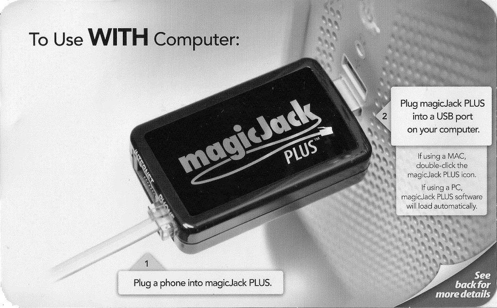 magicJack with computer