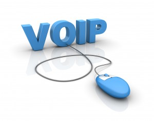blue mouse and the word VOIP