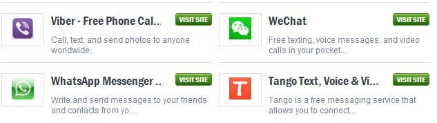 viber, wechat, whatsapp, tango comparison chart