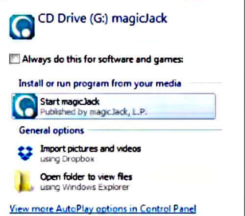 Auto-Play Dialog Box