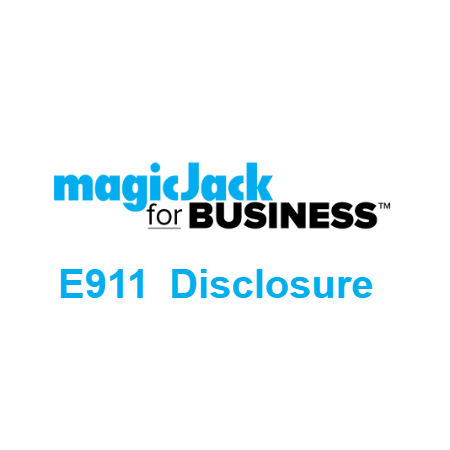 magicJack For Business E911 Disclosure Statement