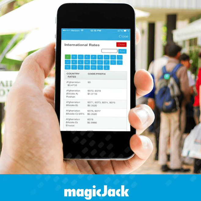 magicJack International Calling Rates