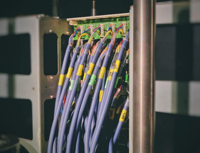 Image of Ethernet Cables Connected to a Network